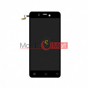 Lcd Display With Touch Screen Digitizer Panel Combo Folder Glass For Lava Iris Pro 20 (Black)