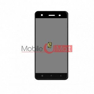 Lcd Display With Touch Screen Digitizer Panel Combo Folder Glass For Lava Z60s (Black)