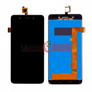 Lcd Display With Touch Screen Digitizer Panel Combo Folder Glass For Lava X81(Black)