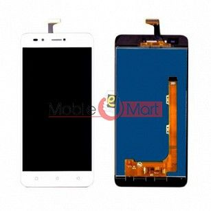 Lcd Display With Touch Screen Digitizer Panel Combo Folder Glass For Lava Z90(Black)