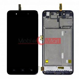 Lcd Display With Touch Screen Digitizer Panel Combo Folder Glass For Vivo Y55 - Black