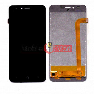 Lcd Display With Touch Screen Digitizer Panel Combo Folder Glass For Comio C2 (BLACK)