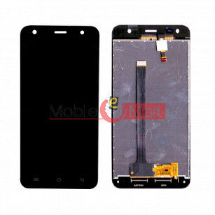 Lcd Display With Touch Screen Digitizer Panel Combo Folder Glass For Comio C2 Lite (Black)
