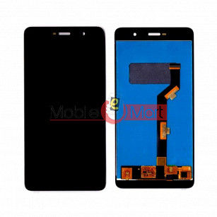 Lcd Display With Touch Screen Digitizer Panel Combo Folder Glass For Comio P1 (Black)