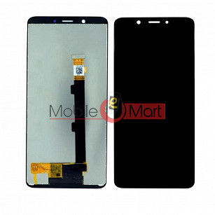 Lcd Display With Touch Screen Digitizer Panel Combo Folder Glass For Oppo Realme 1 (Black)