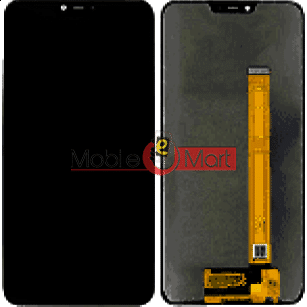 Lcd Display With Touch Screen Digitizer Panel Combo Folder Glass For Oppo Realme 2 (Black)