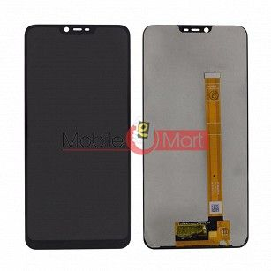 Lcd Display With Touch Screen Digitizer Panel Combo Folder Glass For Realme C1 (Black)
