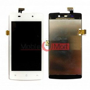 Lcd Display With Touch Screen Digitizer Panel Combo Folder Glass For Oppo R1001 Joy (Black)