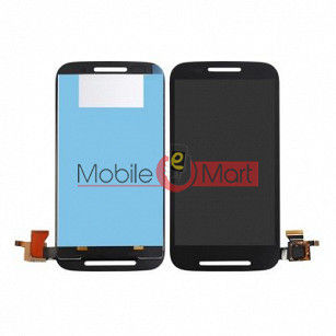 Lcd Display With Touch Screen Digitizer Panel Combo Folder Glass For Motorola Moto E (Black)