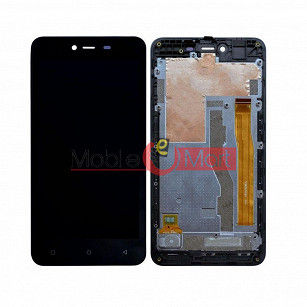 Lcd Display With Touch Screen Digitizer Panel Combo Folder Glass For Gionee P7  (Black)