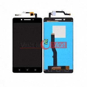 Lcd Display With Touch Screen Digitizer Panel Combo Folder Glass For Lenovo K8 Note (black)