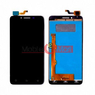 Lcd Display With Touch Screen Digitizer Panel Combo Folder Glass For Lenovo A6600 (Black)