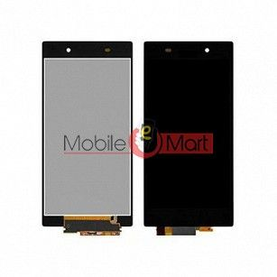 Lcd Display With Touch Screen Digitizer Panel Combo Folder Glass For Sony Xperia Z1 (Black)