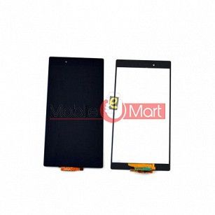 Lcd Display With Touch Screen Digitizer Panel Combo Folder Glass For Sony Xperia Z Ultra (Black)