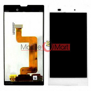 Lcd Display With Touch Screen Digitizer Panel Combo Folder Glass For Sony Xperia T3 (Black)