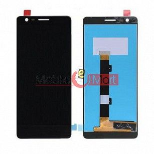 Lcd Display With Touch Screen Digitizer Panel Combo Folder Glass For Nokia 3.1 (Black)