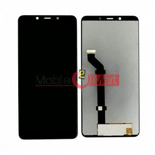 Lcd Display With Touch Screen Digitizer Panel Combo Folder Glass For Nokia 3.1 Plus (Black)