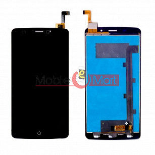 Lcd Display With Touch Screen Digitizer Panel Combo Folder Glass For Lyf Wind 3 (Black)