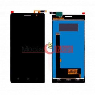 Lcd Display With Touch Screen Digitizer Panel Combo Folder Glass For Lyf Wind 4 (Black)