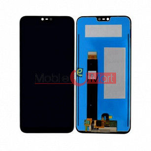 Lcd Display With Touch Screen Digitizer Panel Combo Folder Glass For Nokia 6.1 Plus (Black)