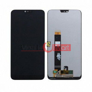 Lcd Display With Touch Screen Digitizer Panel Combo Folder Glass For Nokia 7.1 (Black)