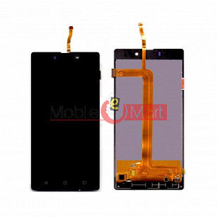 Lcd Display With Touch Screen Digitizer Panel Combo Folder Glass For Lyf Wind 7 (Black)