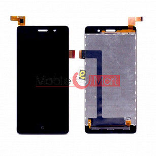 Lcd Display With Touch Screen Digitizer Panel Combo Folder Glass For Lyf Water 5 (Black)