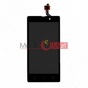 Lcd Display With Touch Screen Digitizer Panel Combo Folder Glass For Lyf Flame 8 (Black)