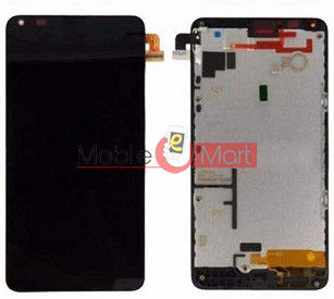 Lcd Display With Touch Screen Digitizer Panel Combo Folder Glass For Microsoft Nokia Lumia 640 Dual Sim (Black)