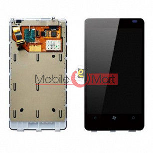 Lcd Display With Touch Screen Digitizer Panel Combo Folder Glass For Nokia Lumia 800 (Black)