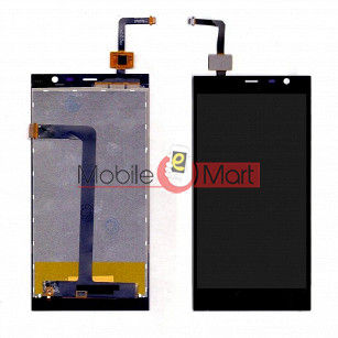 Lcd Display With Touch Screen Digitizer Panel Combo Folder Glass For Intex Aqua Fish (Black)