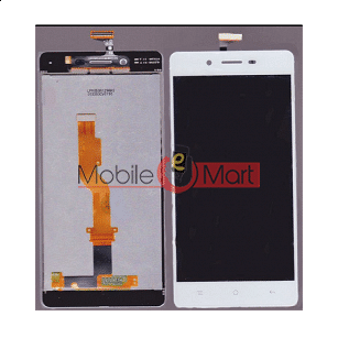 Lcd Display With Touch Screen Digitizer Panel Combo Folder Glass For Oppo A51 (White)