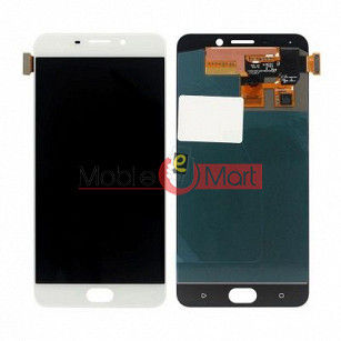 Lcd Display With Touch Screen Digitizer Panel Combo Folder Glass For Oppo F1 Plus (White)