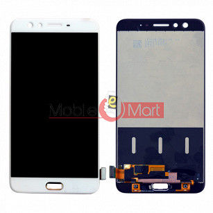 Lcd Display With Touch Screen Digitizer Panel Combo Folder Glass For Oppo F3 Plus (White)