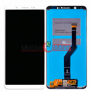 Lcd Display With Touch Screen Digitizer Panel Combo Folder Glass For Vivo V7 Plus (White)