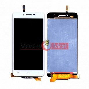 Lcd Display With Touch Screen Digitizer Panel Combo Folder Glass For Vivo V1 (White)
