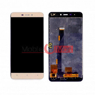 Lcd Display With Touch Screen Digitizer Panel Combo Folder Glass For Gionee P7 Max (Gold)