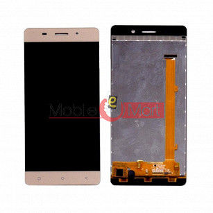 Lcd Display With Touch Screen Digitizer Panel Combo Folder Glass For Gionee Marathon M5 Lite (Gold)
