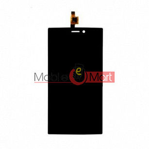 Lcd Display With Touch Screen Digitizer Panel Combo Folder Glass For Micromax Canvas Juice 3 Plus Q394 (White)