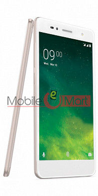 Lcd Display With Touch Screen Digitizer Panel Combo Folder Glass For Lava Z10 (White)