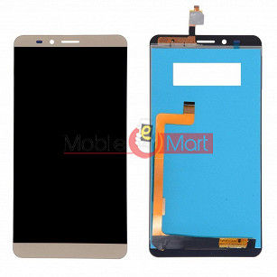 Lcd Display With Touch Screen Digitizer Panel Combo Folder Glass For Lyf Wind 2 (Gold)