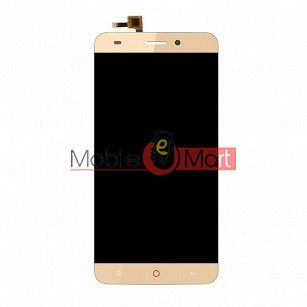 Lcd Display With Touch Screen Digitizer Panel Combo Folder Glass For Lyf Water 7S (Gold)