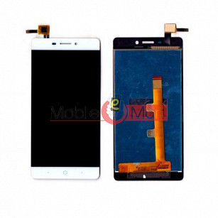 Lcd Display With Touch Screen Digitizer Panel Combo Folder Glass For Lyf Water 7 (White)