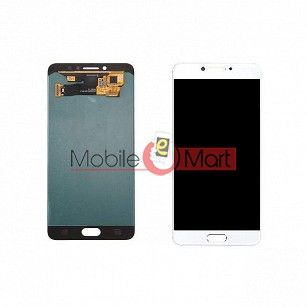 Lcd Display With Touch Screen Digitizer Panel Combo Folder Glass For Samsung Galaxy C7 Pro (White)