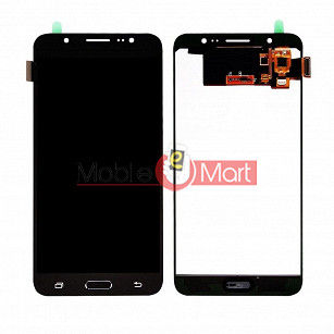 Lcd Display With Touch Screen Digitizer Panel Combo Folder Glass For Samsung Galaxy J7 2016 (Black)