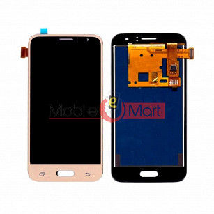 Lcd Display With Touch Screen Digitizer Panel Combo Folder Glass For Samsung Galaxy J1 2016 (Gold)