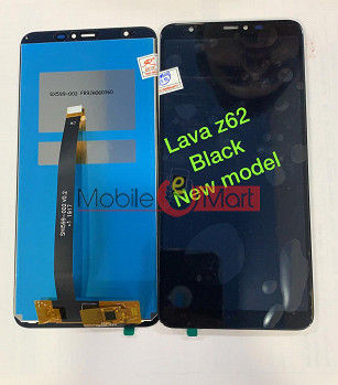 Lcd Display With Touch Screen Digitizer Panel Combo Folder Glass For Lava Z62 (Black)