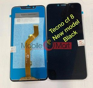 Lcd Display With Touch Screen Digitizer Panel Combo Folder Glass For Tecno CF8