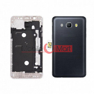 Full Body Housing Panel Faceplate For Samsung Galaxy J5 (2016) Black