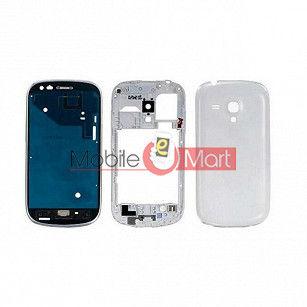 Full Body Housing Panel Faceplate For  Samsung Galaxy S3 mini White